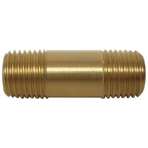 """Nipple - Brass - 1/4"""" x 1 1/2"""" - MIP x MIP"""