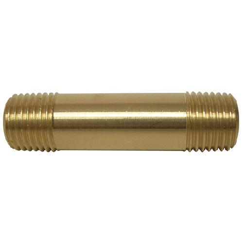 """Nipple - Brass - 1/4"""" x 2"""" - MIP x MIP"""