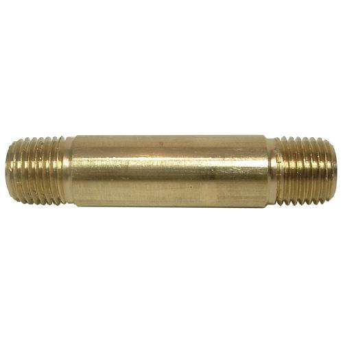 """Nipple - Brass - 1/4"""" x 2 1/2"""" - MIP x MIP"""