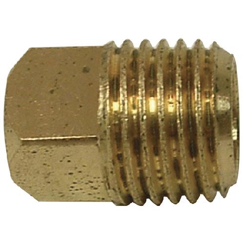 "Plug - Brass - Square Head - 3/8"" - MIP"