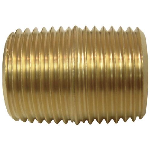 "Nipple - Brass - 1/2"" - MIP x MIP"