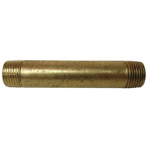 """Nipple - Brass - 1/2"""" x 6"""" - MIP x MIP"""