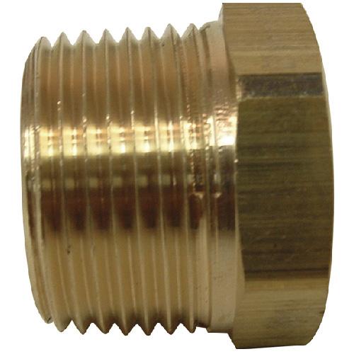 "Hex Bushing - Brass - 3/4"" x 1/2"" - MIP x FIP"