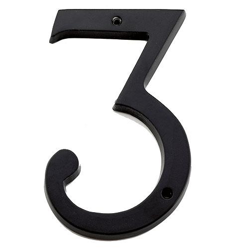 "Nail-On Number - #3 - 6"" - Black"