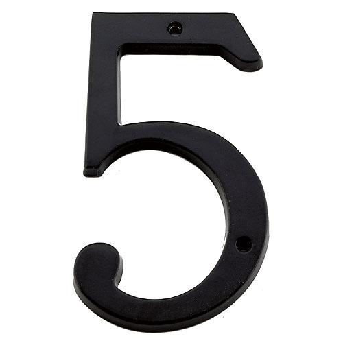 """Chiffre à clouer, #5, 6"""", noir"""