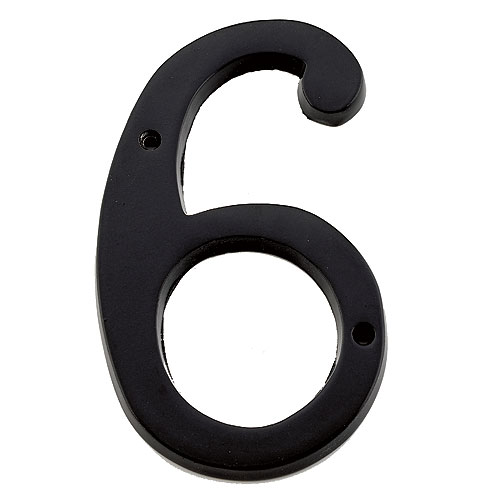 Taymor Classic Number 6 - 6-in - Aluminum - Black