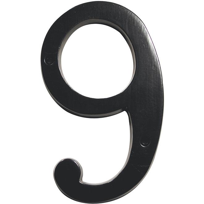 """Chiffre à clouer, #9, 6"""", noir"""