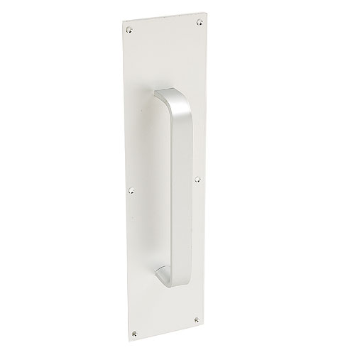 "4"" x 16"" Aluminium Push Plate with 9"" Handle"