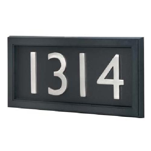 """Plaque d'adresse classique, 7"""" x 14 3/8"""", noir"""