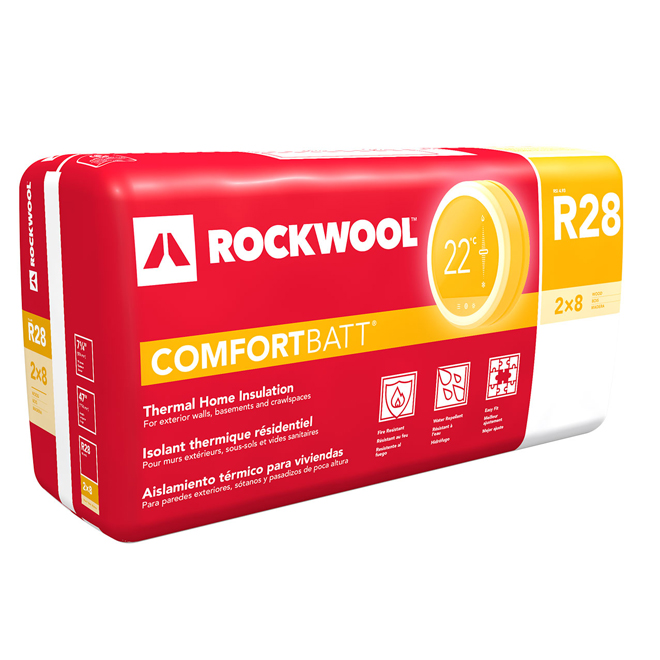 Rockwool ComfortBatt Insulation - Up to 29.9-sq. ft. - R28 - 6-pack