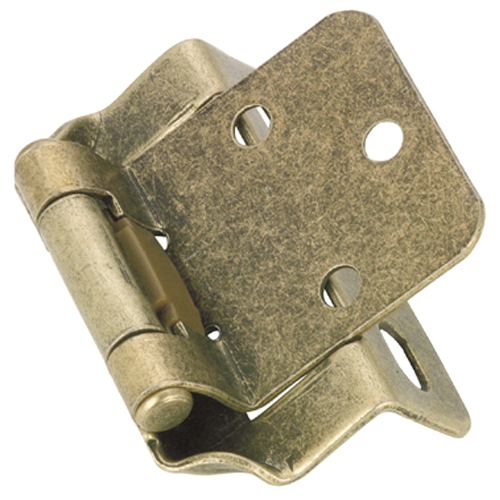 Richelieu Self-Closing Hinge - 1 1/8 po x 2 3/4 - Antique Brass - 2-Pack