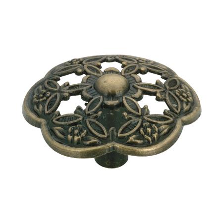Bouton traditionnel Richelieu Village en métal, 42 mm, antique anglais
