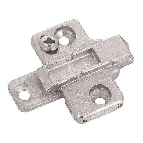 Plaque de montage 2 pièces en croix, à visser, zinc, ± 2 mm