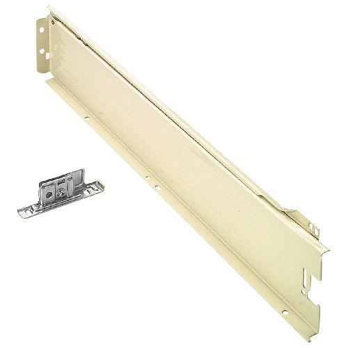 Coulisse de tiroir Metabox, métal, 550 mm, blanc