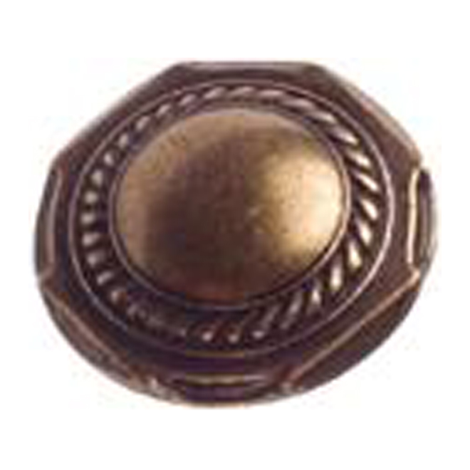 Cabinet Knobs - Country Style - Burnished Brass - 10 pack