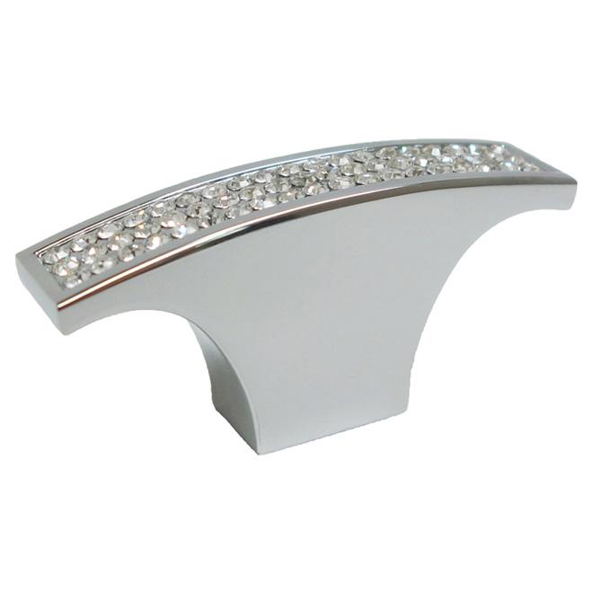 Bouton d'armoire en métal - Cristal et chrome