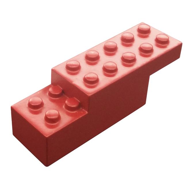 Crochet simple en bloc, bois, rouge