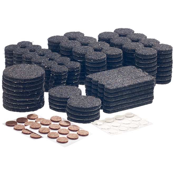 Fused-Felt Plastic Pads - Black - 288/Pack