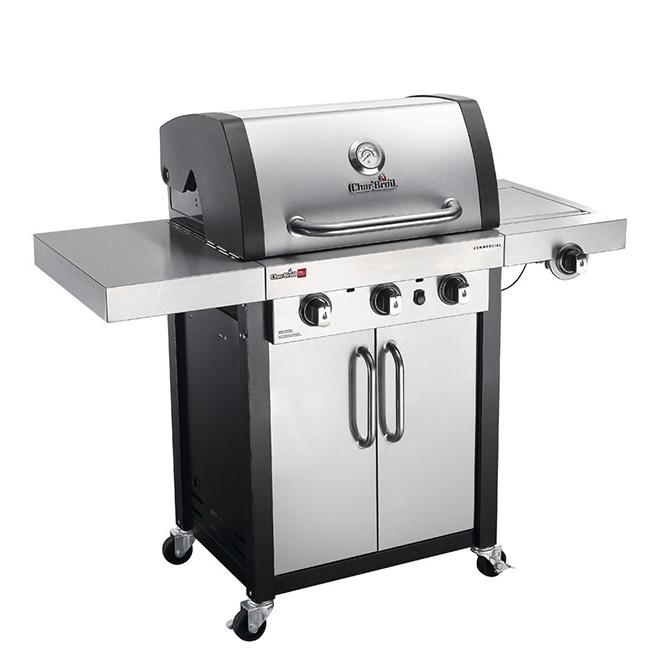Barbecue au gaz naturel Char-Broil, 3 brûleurs, noir