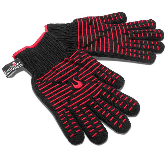 Gants résistant à la chaleur Char-Broil, coton et silicone, taille unique