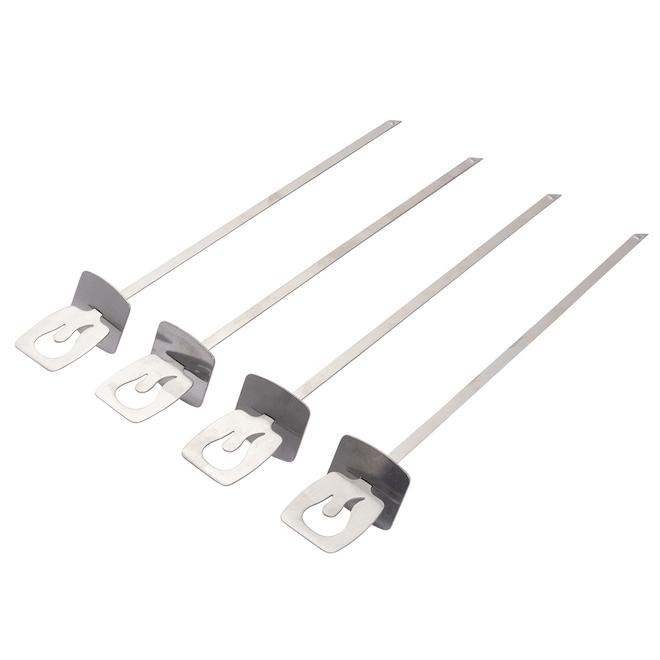 Brochettes à gril Char-Broil en acier inoxydable, 4/pqt