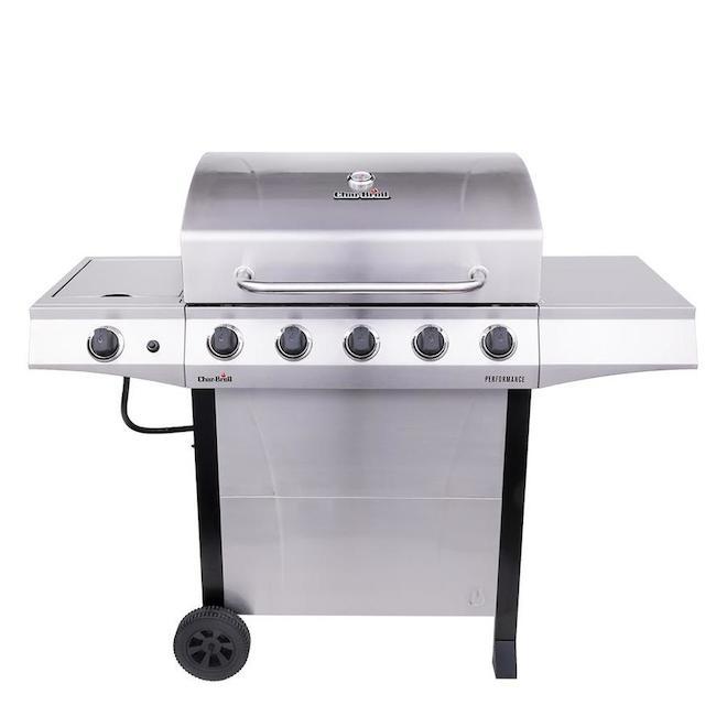 Barbecue Char-Broil Performance gaz propane à 5 brûleurs, argent