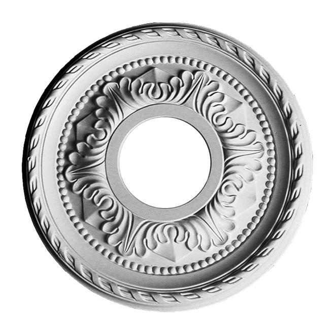 Uberhaus Ceiling Medallion - 12 1/8-in dia - Polyurethane - White