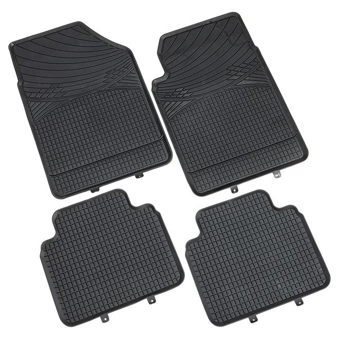 EvertoughTM Universal Car Mat - Set of 4 - Black