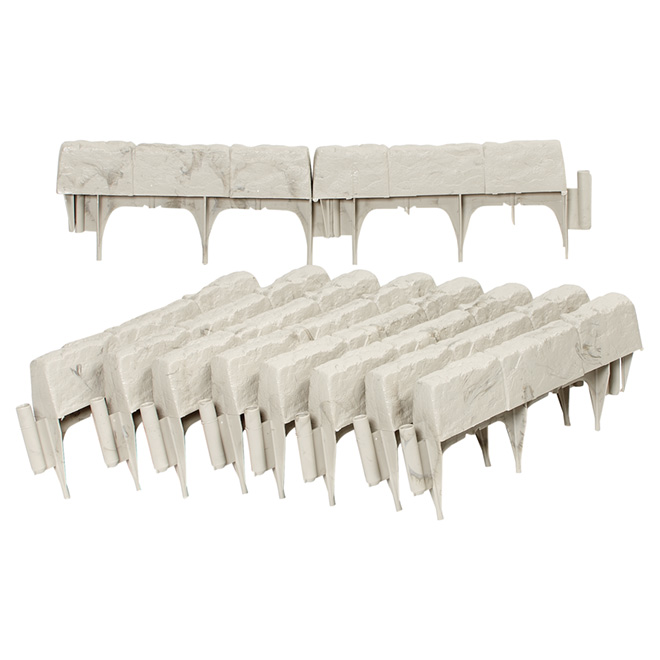 Suncast Greystone Resin Lawn Edging - Pack of 10