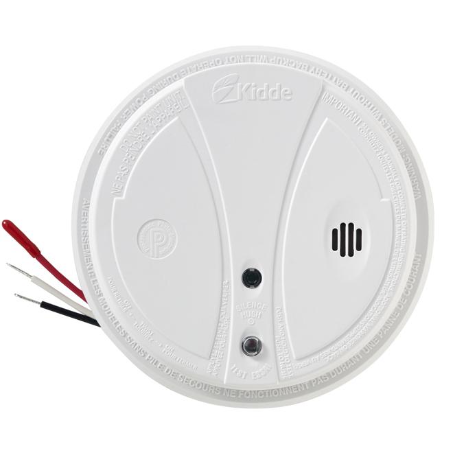 Avertisseur de fumée photoélectrique, 9 V, blanc