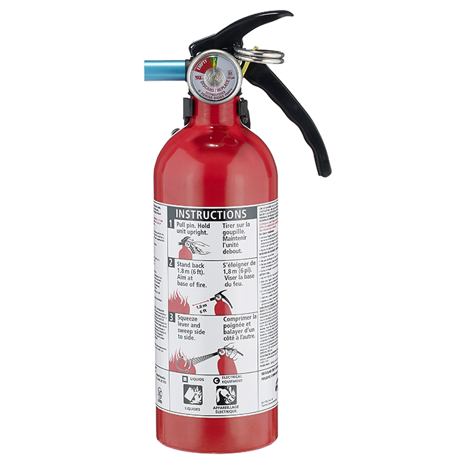 Kidde 5 B C Disposable Fire Extinguisher 2 Lb Red 466294mtl