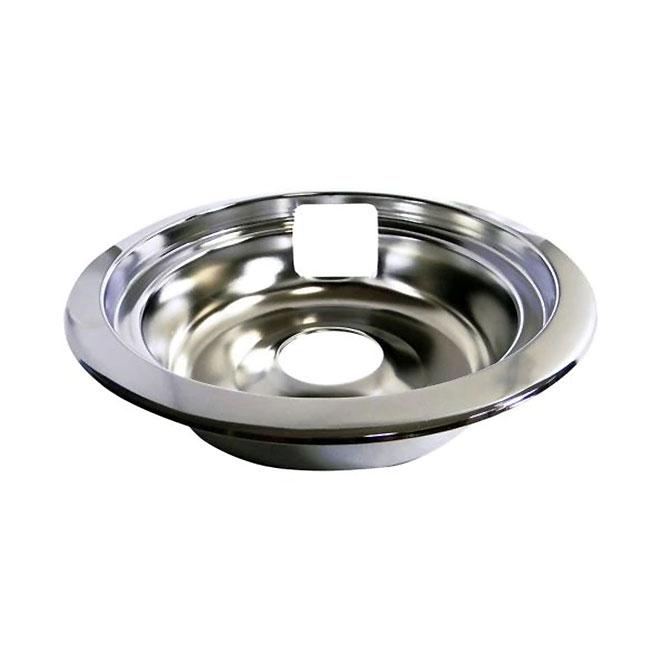 """Cuvette de cuisinière Laser avec anneau de finition, 8"""", chrome"""