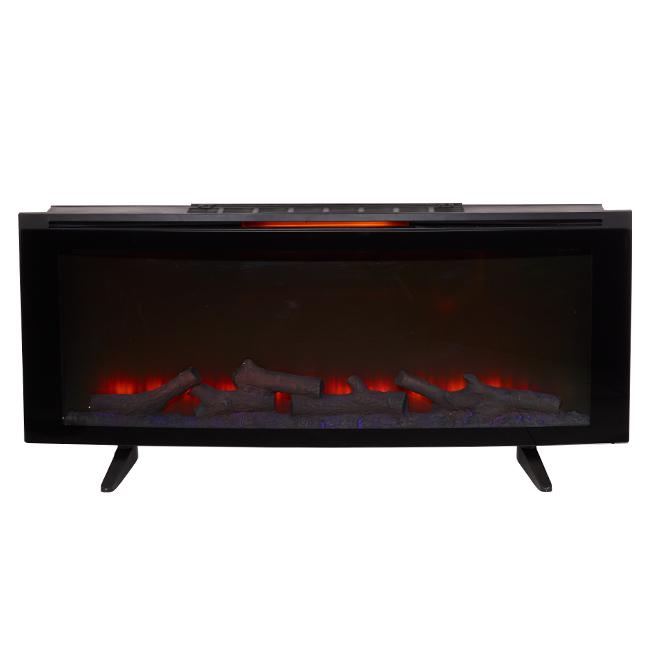 Foyer électrique, chaleur infrarouge, 1000 pi², noir