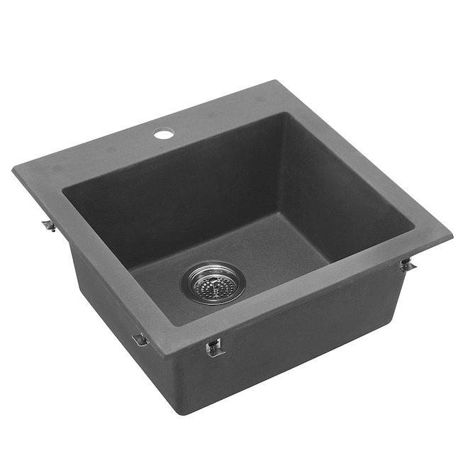 Composite Granite Single Kitchen Sink - Grey