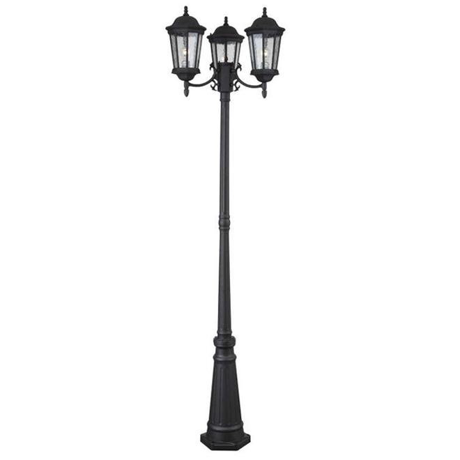 Lampadaire extérieur Project Source à 3 lumières, 27 po x 86 po, aluminium et verre, noir