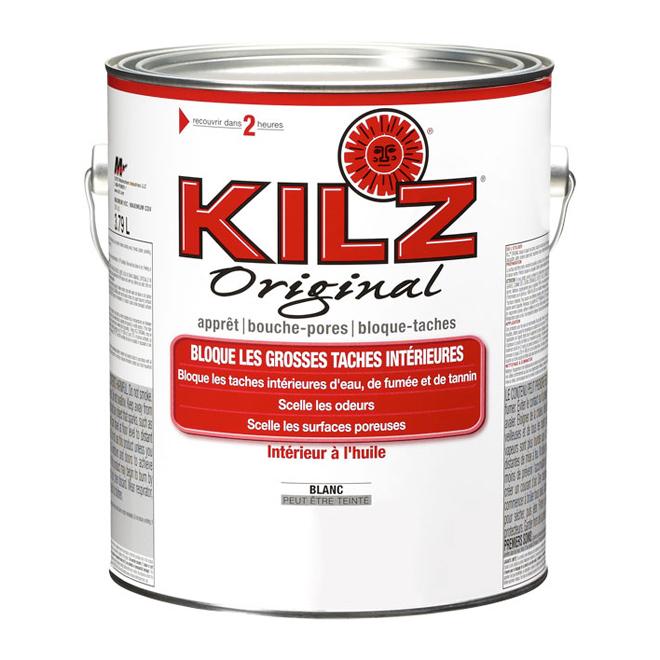 Apprêt à base d'huile intérieur, Kilz, 3,79 L, blanc