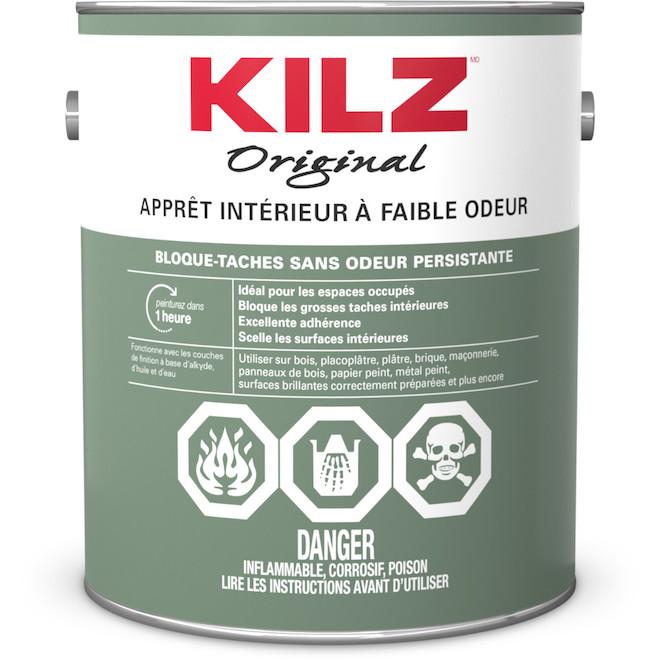 Apprêt-scelleur Kilz Odouless(MD), à base d'huile, 3,78 l
