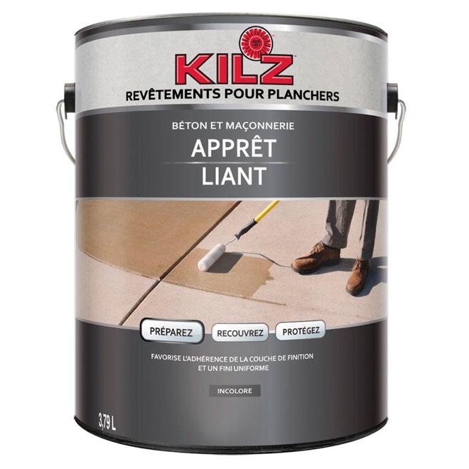 Apprêt liant pour béton/maçonnerie Kilz, 3,79 l , clair