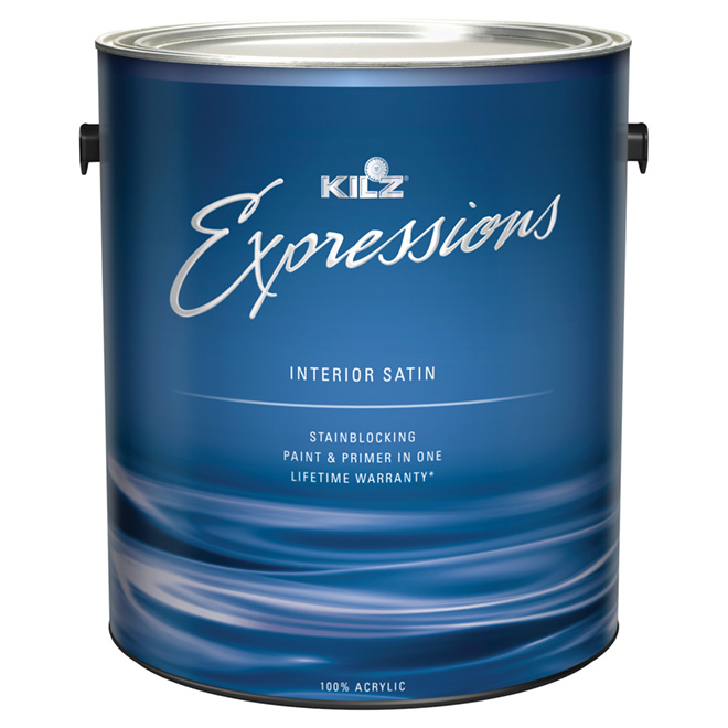 Interior Latex Paint and Primer - Satin Finish