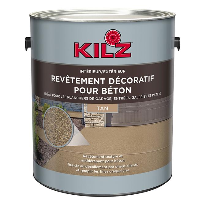 Revêtement pour béton, 3,79 l, brun clair