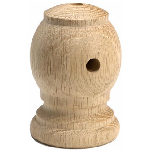 Oak Round Handrail Bracket, Oak