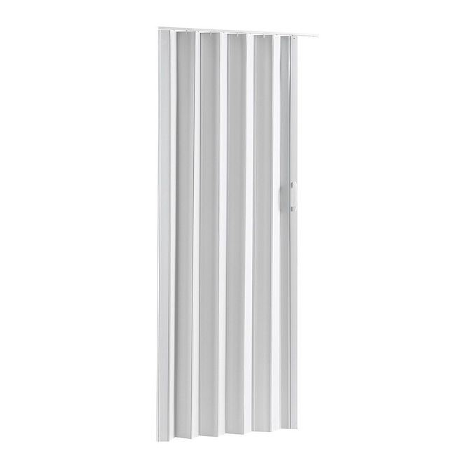 "Colonial Elegance - Via Accordion Folding Door - 48"" x 80"" - Vinyl - White"