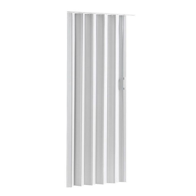 "Porte accordéon Via, Colonial Elegance, 48"" x 80"", vinyle, blanc"