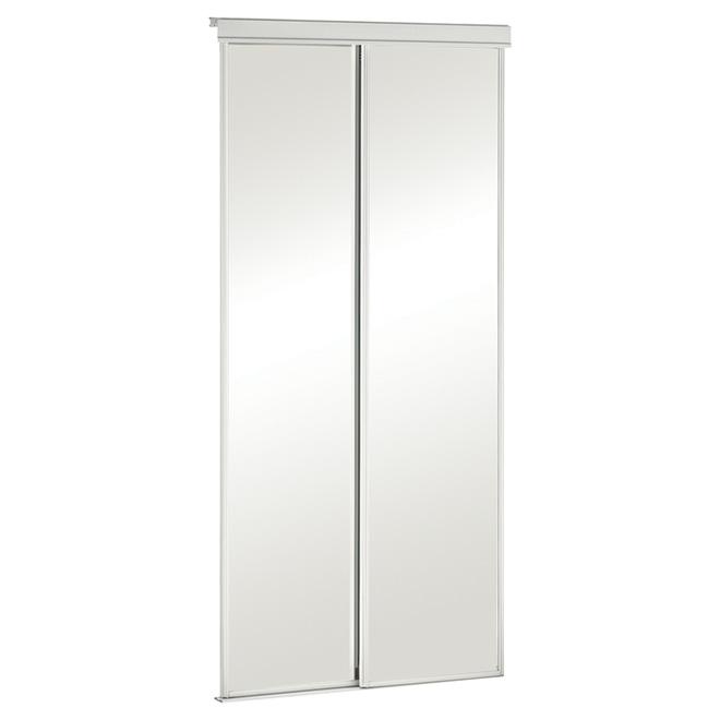 "Colonial Elegance - Economical Series - Sliding Mirror Door - 36"" x 80.5"""