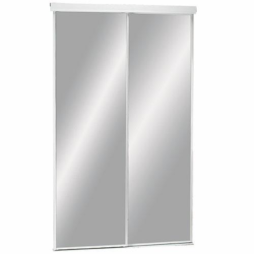 "Colonial Elegance - Economical Series - Sliding Mirror Door - 60"" x 80.5"" - White"