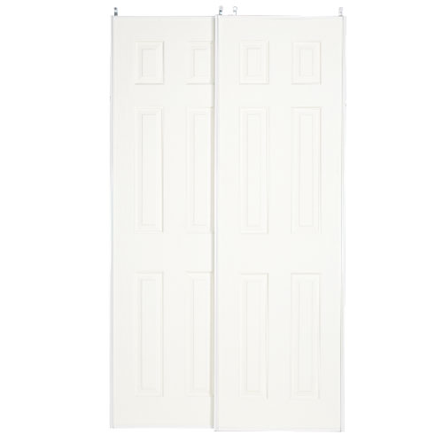 """Porte coulissante à 6 panneaux Colonial Elegance, 48"""" x 80,5"""", blanc"""