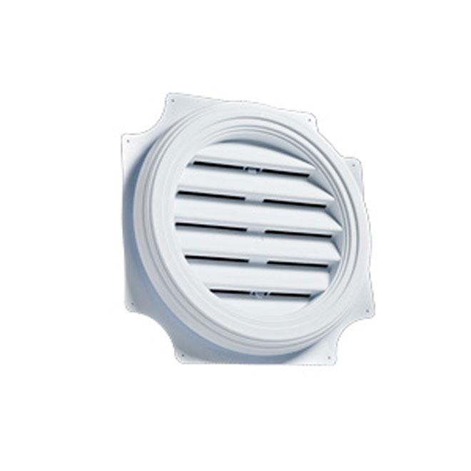 "Persienne de ventilation ronde 22"" blanc"