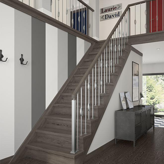 Stair Trends 2019: COLONIAL ELEGANCE Main Courante En Chêne « Zen », 8', Bois