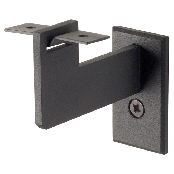 Steel Handrail Bracket, Black