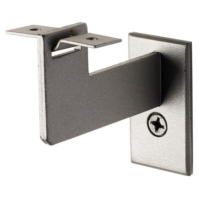 """Support pour main courante Zen, 3,25"""", acier, gris argent"""